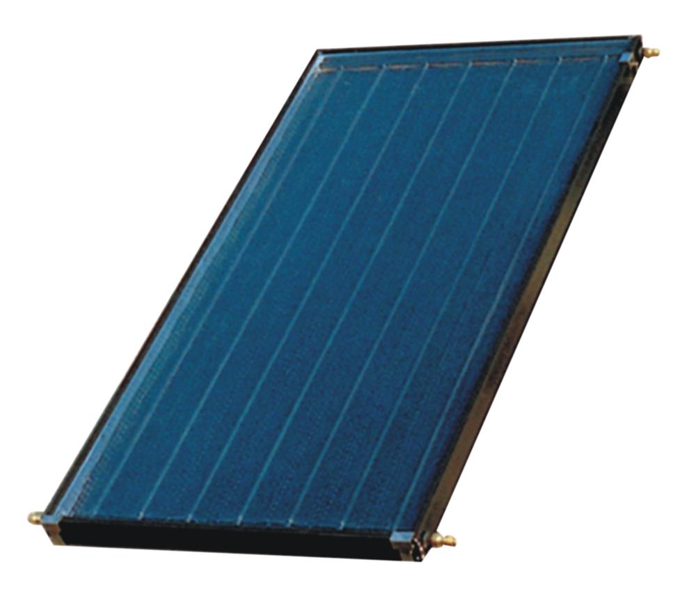 平板型太阳能集热器是金属管板式结构,热效率高,产热水量大,可承压,耐